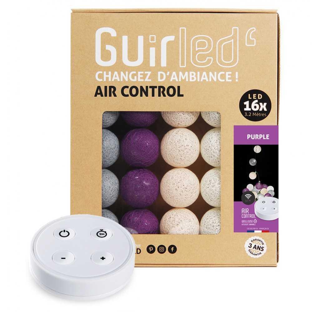 Guirled Purple Télécommandée Guirlande Télécommandée Guirlande boule lumineuse