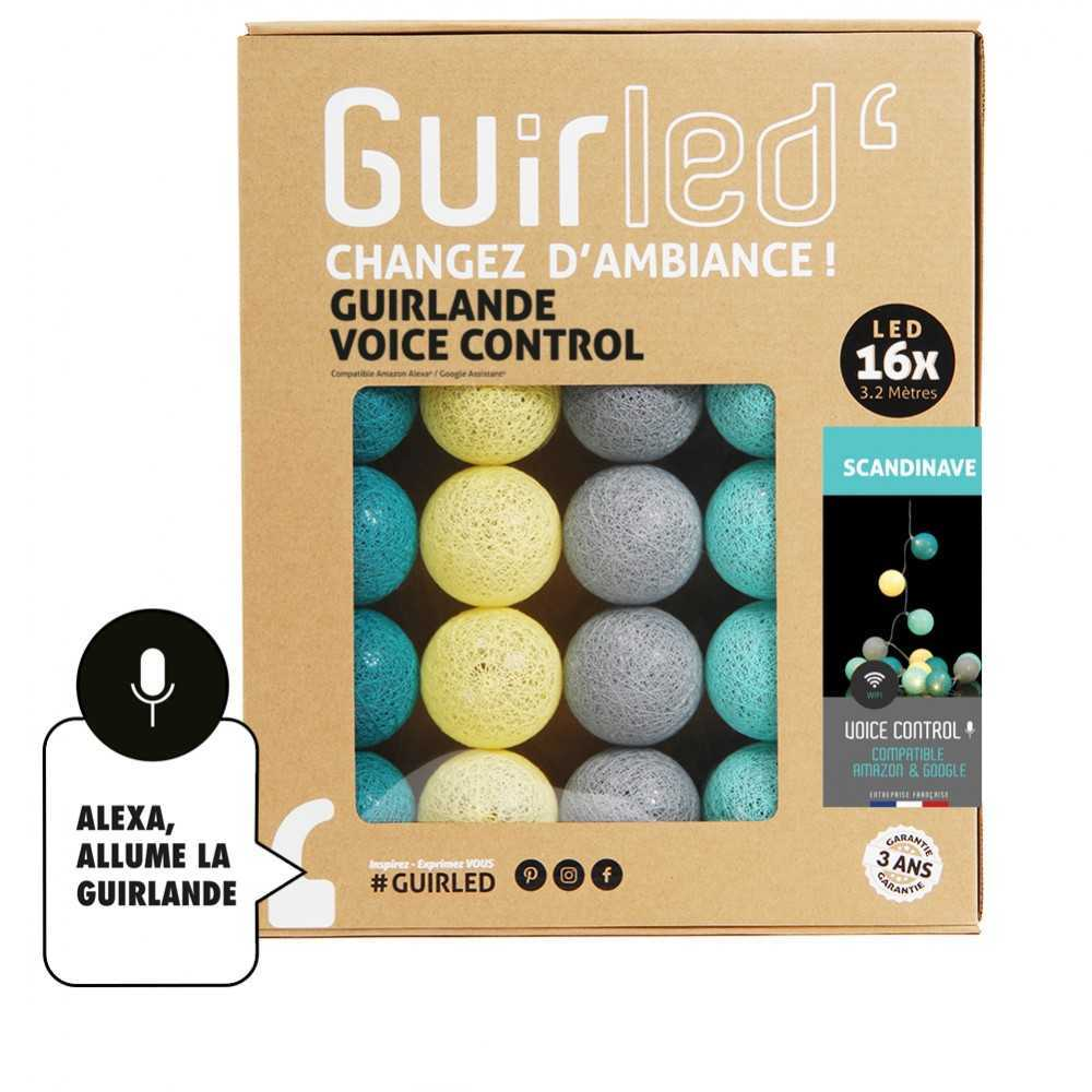 Guirled Guirlande Commande Vocale Scandinave Commande Vocale