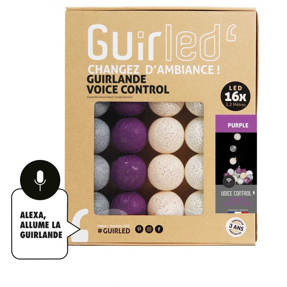 Guirled Guirlande Commande Vocale Purple Commande Vocale