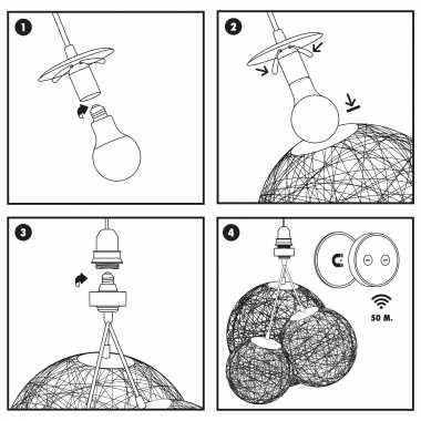 Guirled NORDIC SUSPENSION Suspension [NOUVEAU] Guirlande boule lumineuse